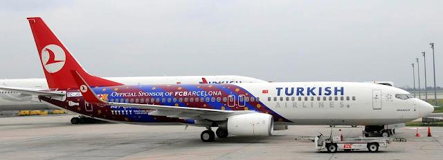 türk havayolları barcelona