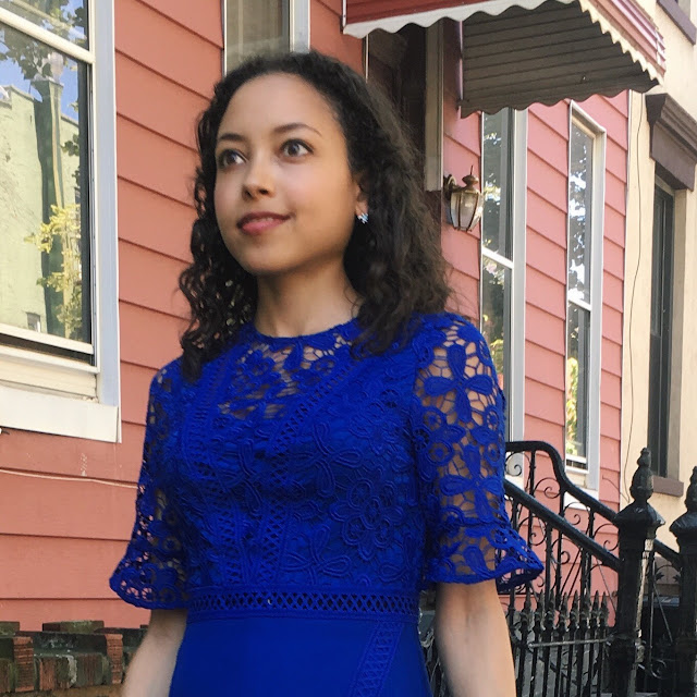 Girl in Beautiful Blue Dress