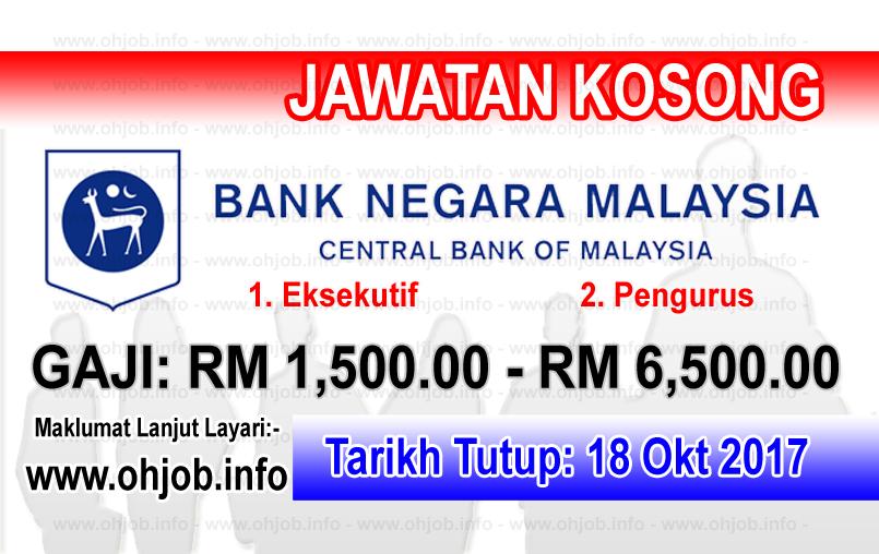 Jawatan Kerja Kosong BNM- Bank Negara Malaysia logo www.ohjob.info oktober 2017