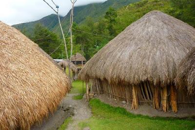 Foto Rumah Adat Papua