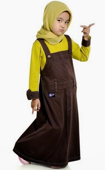 Gambar Baju Muslim Gamis Untuk Anak Perempuan