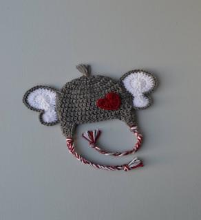 Crochet, Crochet Baby, Crochet Gray Earflap Hat