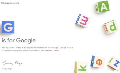 Alasan Alphabet dijadikan induk Perusahaan Google