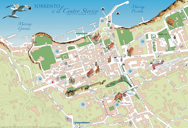Mapa da cidade de Sorrento