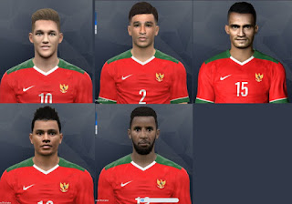 PES 2017 Timnas Indonesia Face Pack