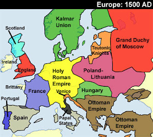Map Of Europe In The 1500s.Northern Renaissance Renaissance Technology