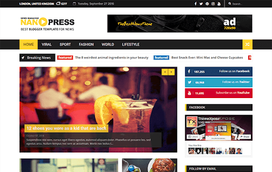 Nanopress Responsive News/Magazine Blogger Template