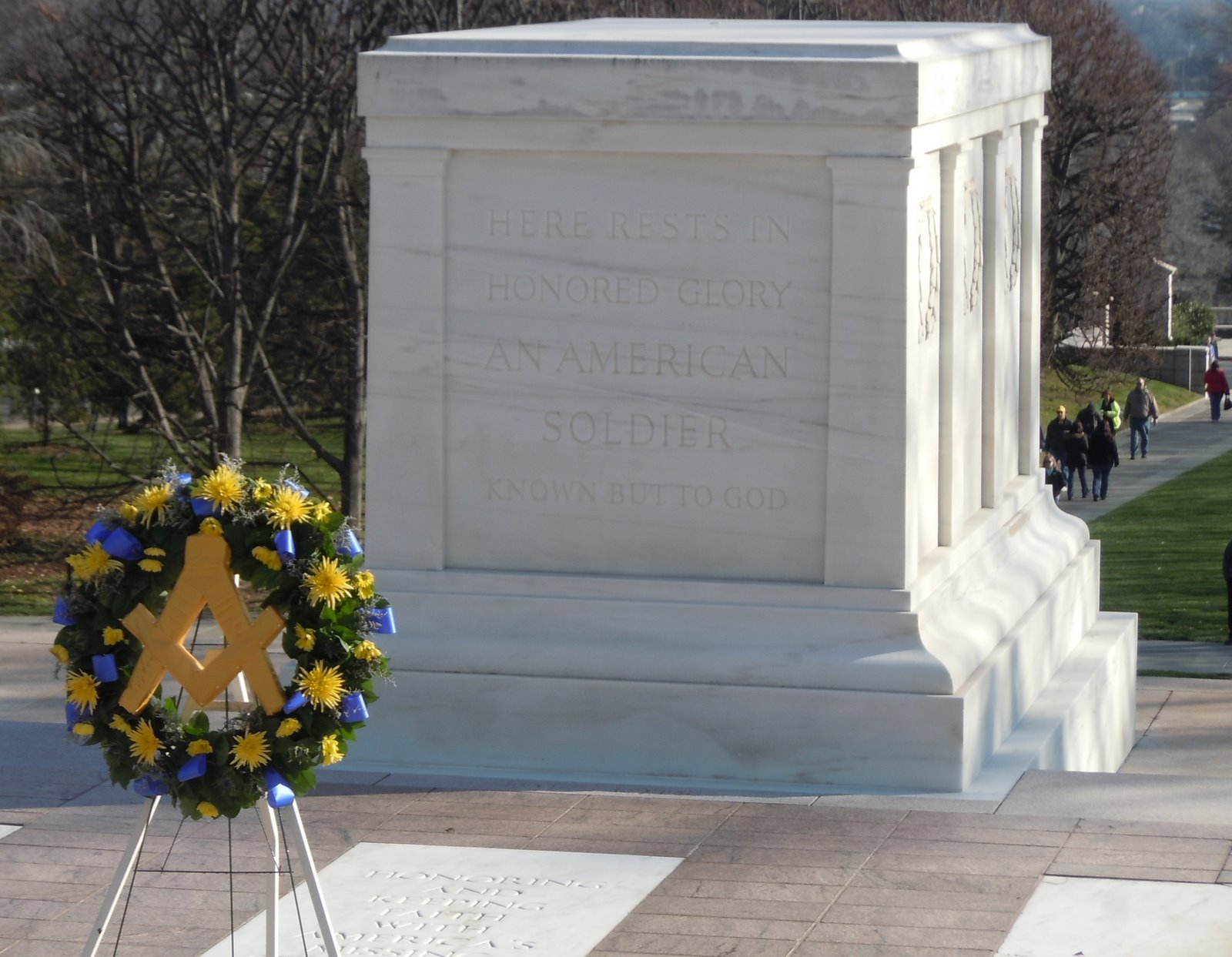 93716246e Acouple weeks ago I was the Guest of the Grand Lodge of Waswhington DC for  their annual communication. One of the events was to lay a wreath at the  Tomb of ...