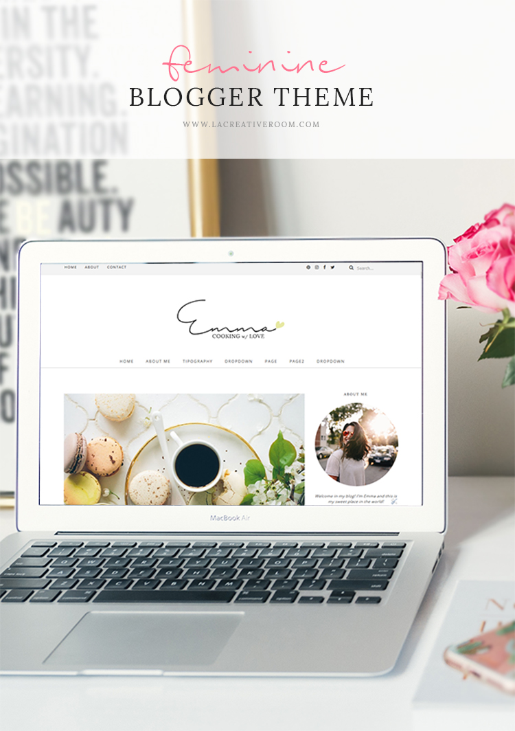 Emma: feminine food blog template