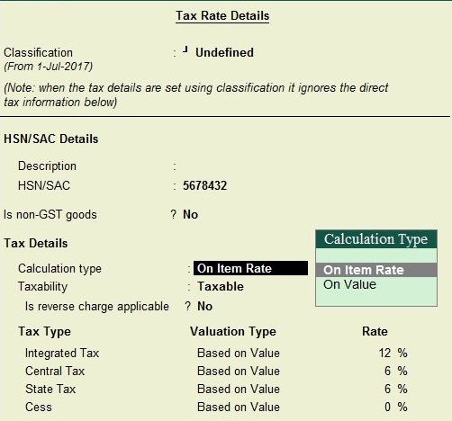 How to Select Item Type in GST