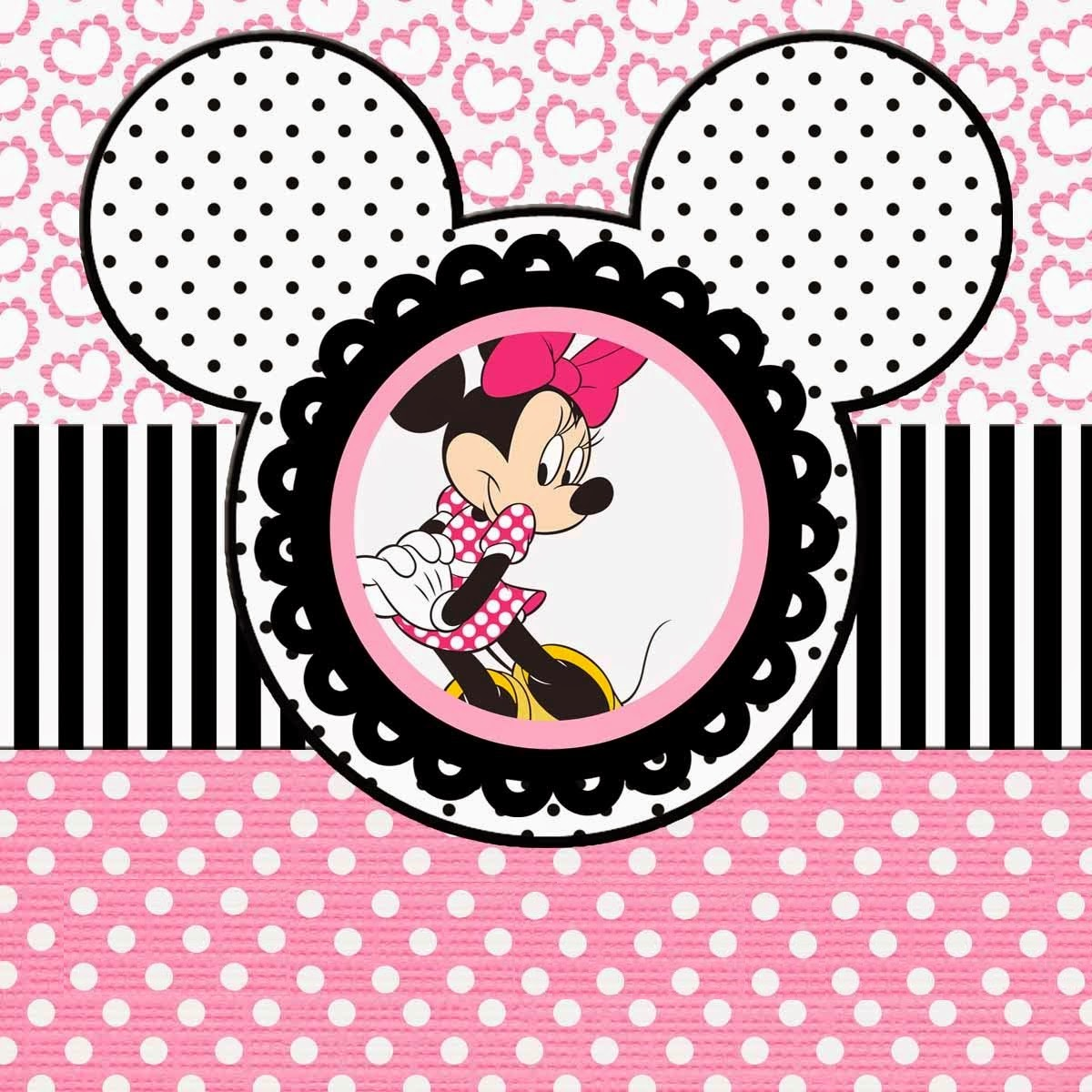 Minnie Mouse Cake Template Printable