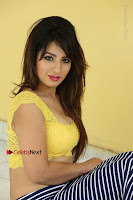 Cute Telugu Actress Shunaya Solanki High Definition Spicy Pos in Yellow Top and Skirt  0403.JPG