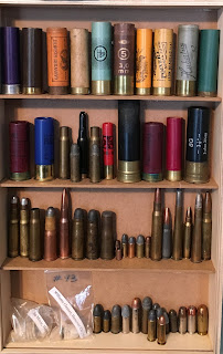 Antique Shotgun Shells Display