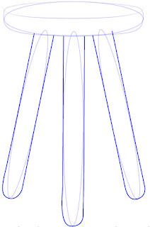 Teknik Cepat dan Mudah Menggambar Kursi Kayu Kecil