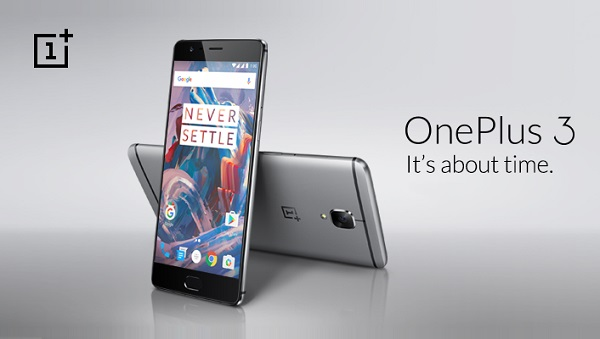 OnePlus 3 with 5.5-inch 1080p Optic AMOLED display and 6GB RAM launched