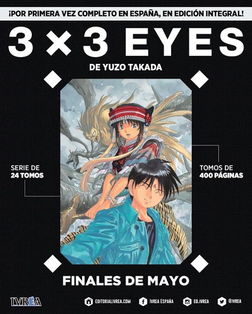 IVREA publicará por primera vez completa en España y en edición integral la mítica 3×3 EYES