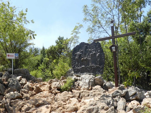 The third Station of the Cross on Cross Mountain, Medjugorje