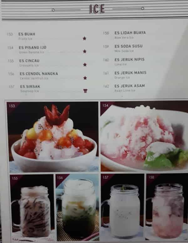 Menu Special Es Resto Anggrek