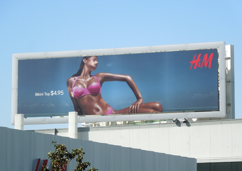 HM bikini model 2012 billboard