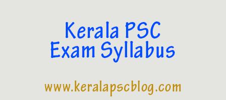 Kerala PSC Laboratory Technician Exam Syllabus