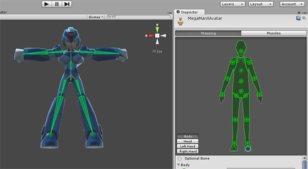 Rigged Model for Unity 3D: MegaMan X 3D Rigged (3DsMax, FBX for Unity)