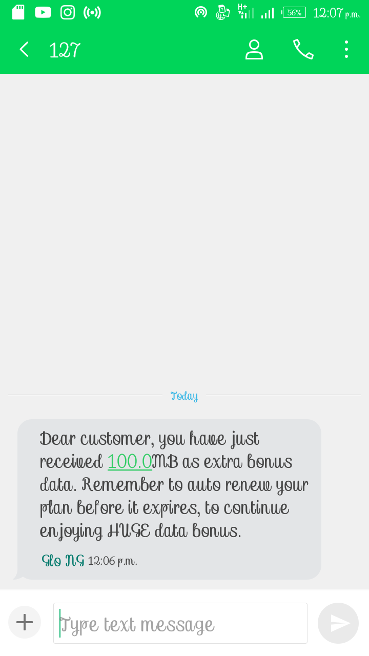 HOT! How To Get Free 100MB Data From Glo ~ Information Guide Africa