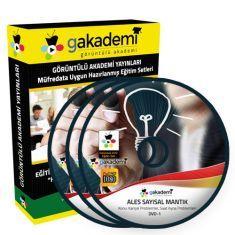 Görüntülü ALES Sayısal ve Sözel Mantık Çözümlü Soru Bankası Seti 11 DVD