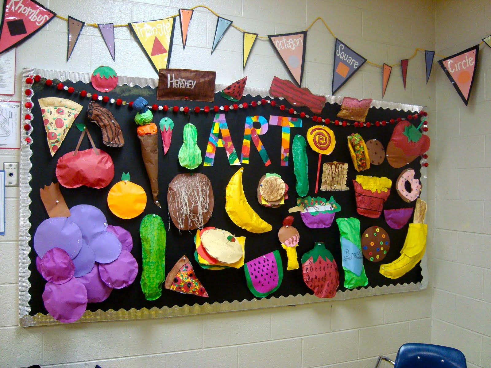 Kirby Middle Visual Art Paper Food Sculptures