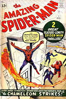 Amazing Spider-man v1 #1 1963 marvel comic book cover art by Jack Kirby, Steve Ditko