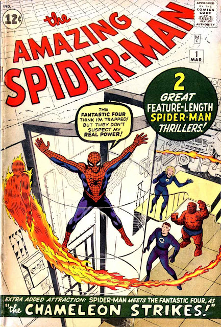 Amazing Spider-man v1 #1, 1963 marvel silver age comic book cover by Jack Kirby