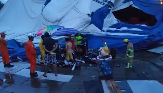 Rapaz morre após ser atingido por tenda de circo na Paraíba – Veja video