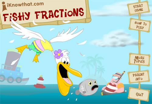 Caza a los peces con las fracciones equivalentes