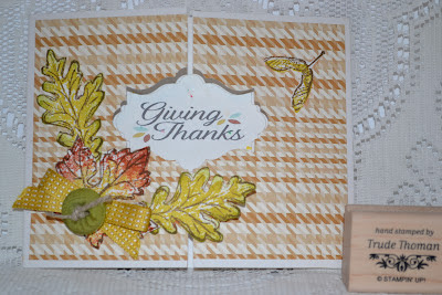 http://stampwithtrude.blogspot.com Stampin' Up! greeting card by Trude Thoman Gently Falling stamp set