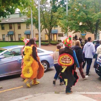 Mardi Gras Indians Marching in PRONK Fest in Providence
