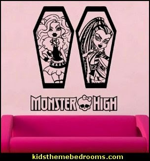 Monster High Clawdeen Wolf & Nefera De Nile Decal Vinyl Wall Sticker