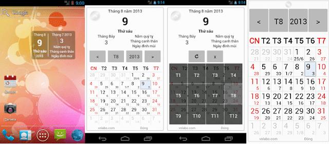 ứng dụng xem lịch âm 1