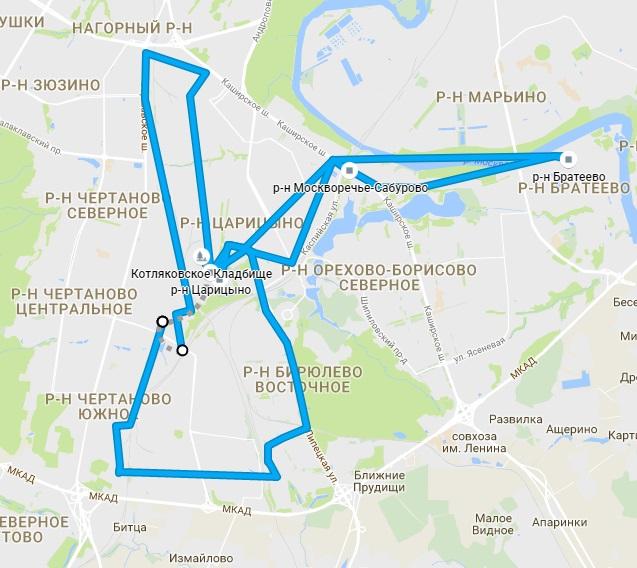 путь на карте