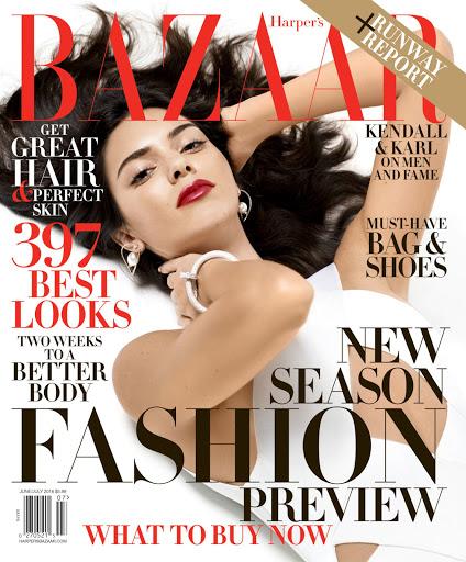 kendall jenner sexy models cover shoot for harper's bazaar magazine