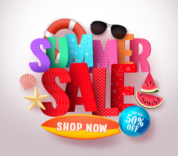 Summer sale with beach holiday vector download free vector