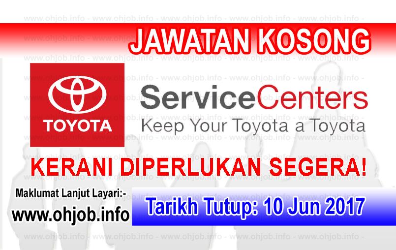 Jawatan Kerja Kosong Toyota Service Center logo www.ohjob.indo jun 2017