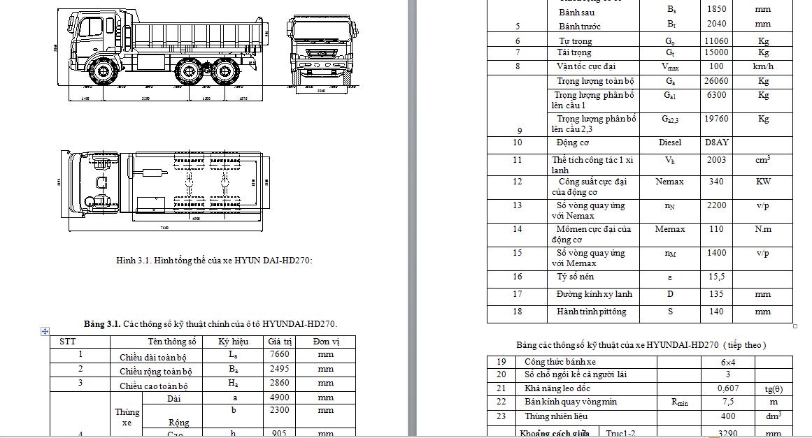Khảo sát và tính toán kiểm nghiệm hệ thống phanh xe huyndai hd720