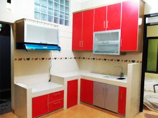 Koleksi Dapur Minimalis Warna Merah