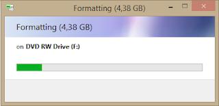 Proses formatting DVD