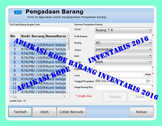 Download Aplikasi Kode Barang Inventaris Terbaru