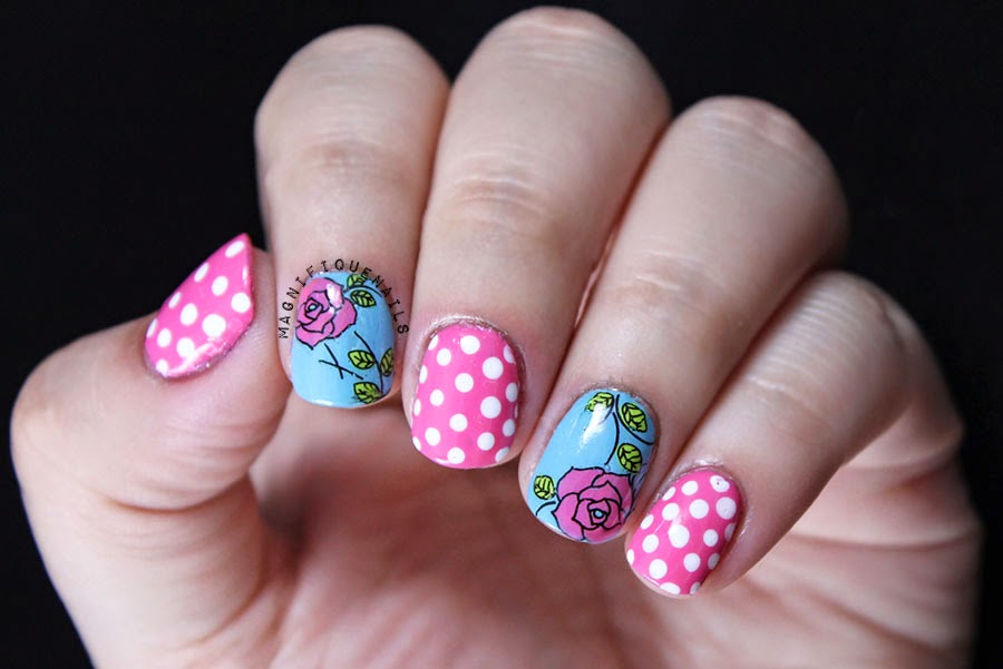 Magically Polished Nail Art Blog Born Pretty Store Floral Water Decals Review Tutorial