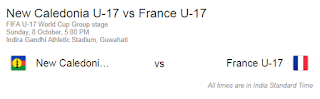 New Caledonia U17 vs France U17 match Fifa 2017