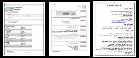 تحميل نماذج السيرة الذاتية Cv جاهزة 60 نموذج سيرة ذاتية عربي انجليزي Doc