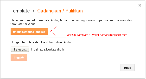Cara Back up tamplate blogger