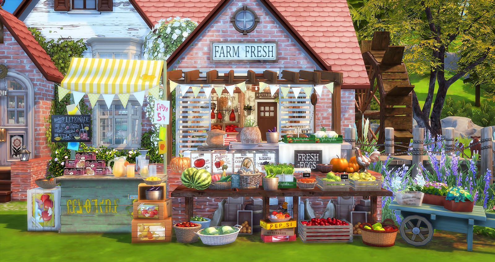 Sims 4 Farmer S Market 農莊的小市場 No Download Link Ruby S Home Design