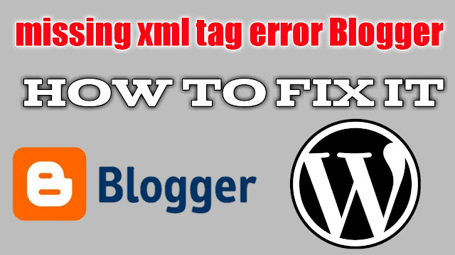 Missing xml tag this required tag is missing
